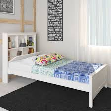 livia solid pine timber bed with storage king single white