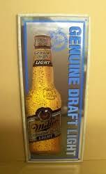 miller genuine draft light miller genuine draft light bottle beer bar mirror neon beer signs