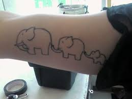 39 elephant family tattoos