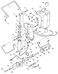 trim u0026 tilt assembly f5h219 mercury oem parts iboats com