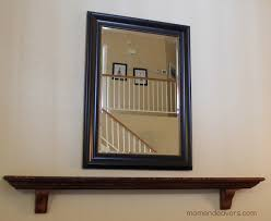 How To Decorate A Large Wall by Diy Faux Mantel Shelf Install