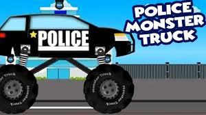 monster truck videos for toddlers police monster truck police monster truck chasing cars cars