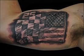 black and white tattered american flag tattoo pictures to pin on