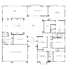 one story floor plans awesome 5 bedroom one story floor plans collection also two homes