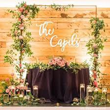 wedding backdrop personalized custom last name sign personalized name sign cutout wedding sign