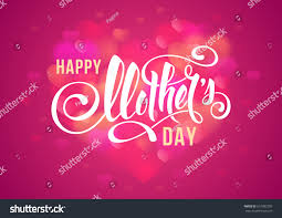 Mother S Day Designs Happy Mothers Day Design Calligraphic Lettering Stock Vector