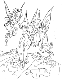 printable disney u0027s the tinkerbell pirate fairy coloring pages