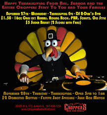 thanksgiving dj at choppers bar and grill antioch il