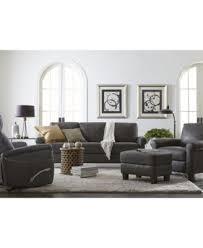 Leather Sofa Bed Romy Leather Sofa Created For Macy U0027s Furniture Macy U0027s