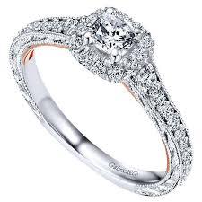 vintage halo engagement rings 14k white gold 75cttw blush vintage halo engagement ring