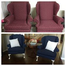 Painting Fabric Upholstery Painted Upholstery With Annie Sloan Chalk Paint Napoleonic Blue