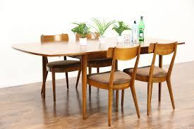 midcentury modern 1960 u0027s vintage dining set table leaf 4 chairs