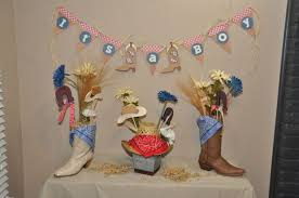 western baby shower ideas boy baby shower decorations with boots and cowboy hats baby