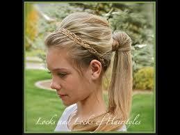 headband ponytail braided headband with ponytail