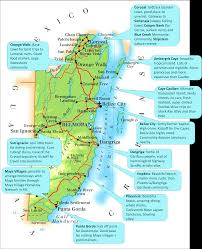 Tulum Map Belize Highlights Map Eat The World