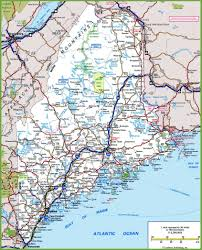 map of maine cities maine road map