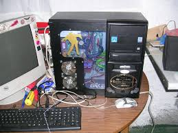 zombie pc case mod back from the dead pc with space saving side