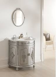 Chair For Bathroom Vanity by Bahtroom Round Mirror On White Wall Paint Closed Interesting