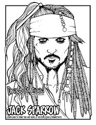 how to draw jack sparrow the pirates of the caribbean narrated