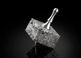 metal dreidel lace dreidels