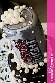 is coors light a rice beer coors light grooms cake rice crispie beer can cake on bot flickr