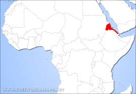 africa map eritrea where is eritrea located on the world map