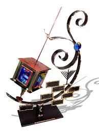 large dreidel collector gifts large sculpted metal and glass collector
