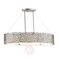Oval Pendant Light Silver Coral Oval Pendant Light Lights Co Uk
