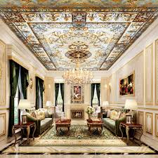 royal home decor wholesale 3d ceiling mural wallpaper royal ceiling mural for