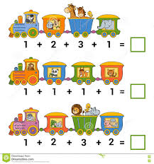 counting game for children addition worksheets stock vector