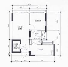 Hdb Flat Floor Plan by 100 3 Room Flat Floor Plan 3 Bedroom Apartment House Plans