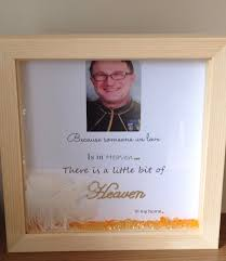 in memory of gifts personalised wall memorial gift shadow box frame because someone we