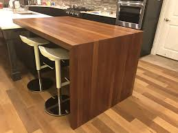 kitchen island butcher block island table for kitchen new full size of butcher block islands lone star artisans walnut waterfall island with seating stainless steel