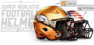 realistic football helmet mockup by saltshaker911 graphicriver