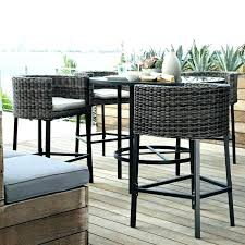Patio Bar Height Table And Chairs Bar Height Patio Table With Pit Best Pit Patio Set Of