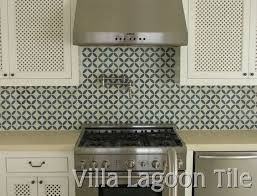 Cement Tile Backsplash Could Tone It Down With Pattern Behind - Tile backsplashes