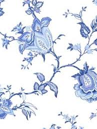 blue flower wallpaper i actually like this for tile in a bathroom