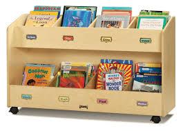 childrens book storage cart 8 literature pockets