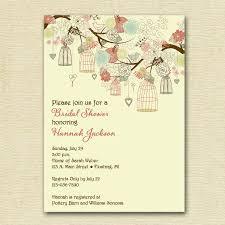 vintage birdcages and flowers bridal shower invitation