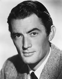 famous older actors gregory peck a famous actor free b w stock image