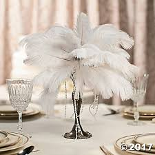 ostrich feather centerpieces centerpiece idea