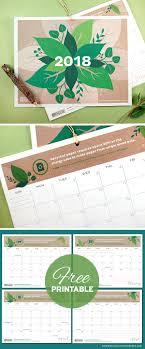 botanical calendars free printables four stylish 2018 calendars botanical