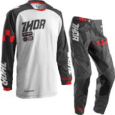 motocross gear ireland thor phase 2016 ramble charcoal white motocross kit off road mx