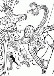 spectacular spiderman coloring pages free super heroes coloring