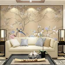 online get cheap floral wall murals aliexpress com alibaba group 3d flower birds wallpaper wall mural bedroom wall decor papel decorativo de pared wallpaper for walls