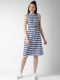 navy and white striped dress dress images