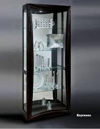 Used Curio Cabinets Hero Curio Cabinet In Espresso Modern Curios
