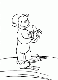 curious george color pages coloring