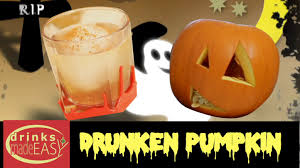 how to make a halloween drunken pumpkin drinks made easy youtube