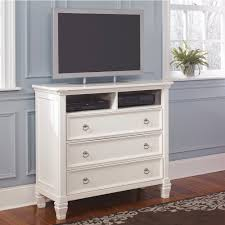 Ashley Greensburg Bedroom Set Prentice White Media Chest B672 39 Signature Design By Ashley